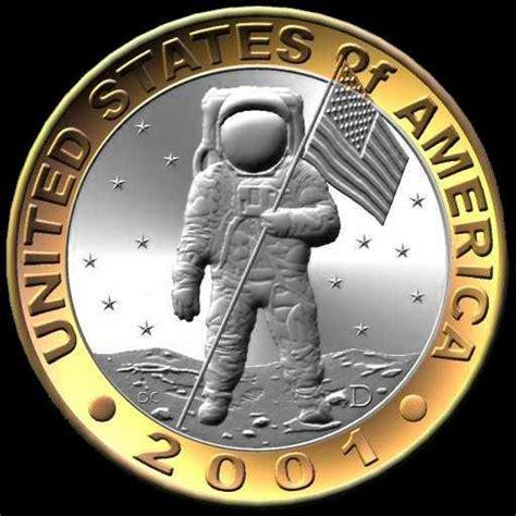home design free coins coin designs by daniel carr 1987 2001 apollo astronaut dollar two dollar bi metallic