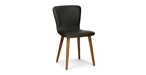 sede black leather walnut dining chair dining chairs article modern mid century and