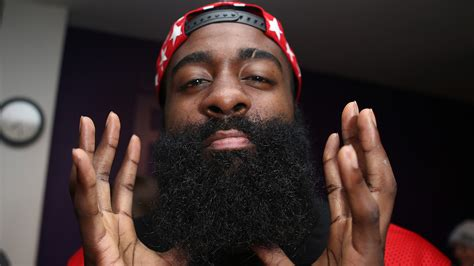 james harden beard man gets enormous way too real tattoo of harden on leg