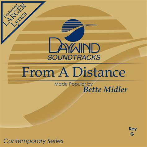 bette midler from a distance from a distance bette midler christian accompaniment