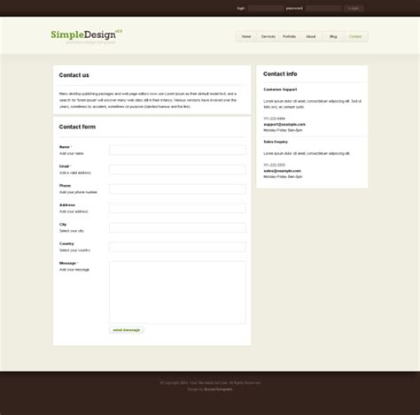 template xhtml simpledesign xhtml template personal css templates