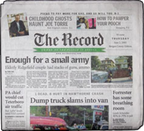Bergen County Records Newspapers Published In New Jersey