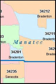 bradenton florida fl zip code map downloads