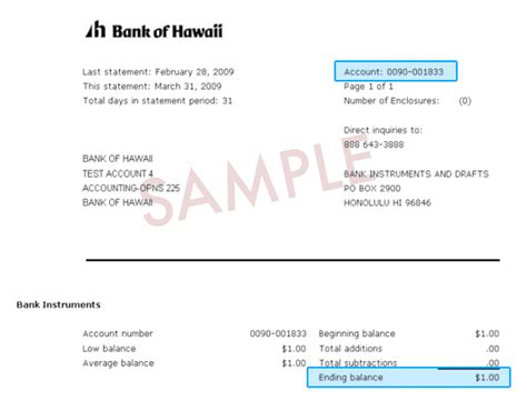 Saving Account Bank Statement Letter Format bank of hawaii e bankoh application