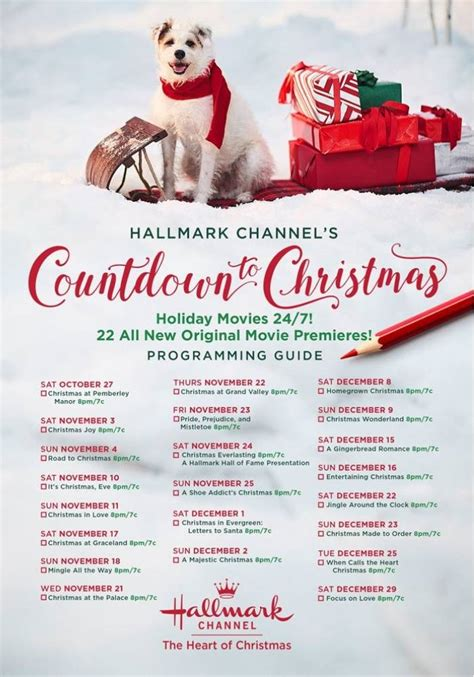 printable instructions for hallmark countdown to christmas clock 2016 hallmark channel countdown to schedule 2018