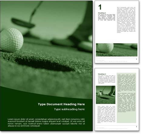 golf templates for word royalty free perfect golf putt microsoft word template in