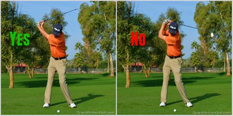 no hands golf swing width at the top of the backswing grant brown golf