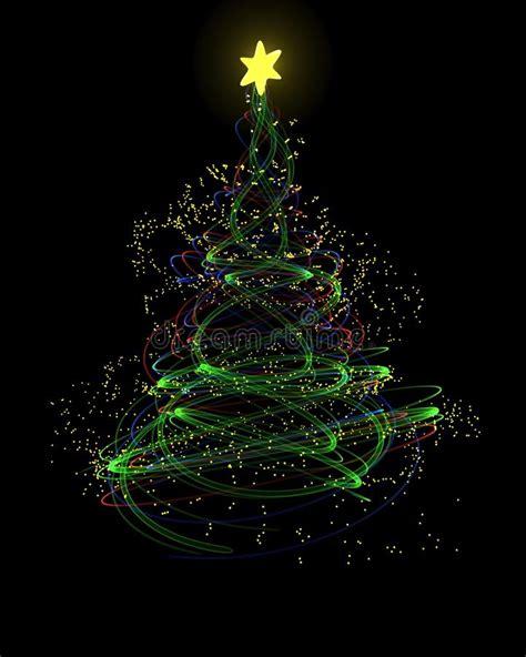 neon xmas tree neon tree concept stock illustration image 21586748