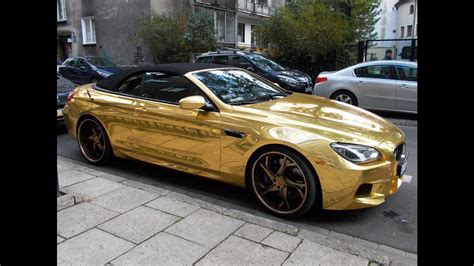 golden cars golden car bmw m6
