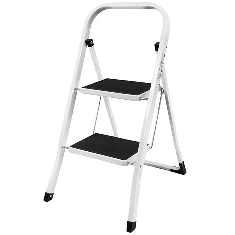 2 Step Kitchen Stool by 2 Step Ladder Safety Non Slip Mat Tread Foldable Kitchen
