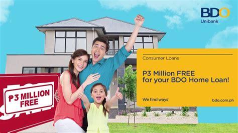 bdo housing loan bdo home loan promo youtube