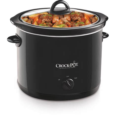 crock pot scv400b 4 quart manual cooker black new
