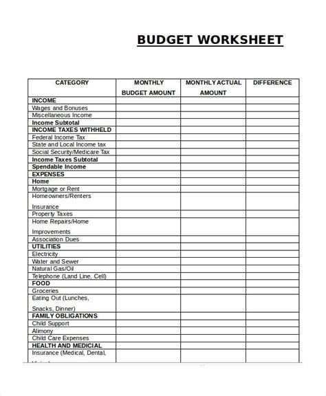 pin  budget template