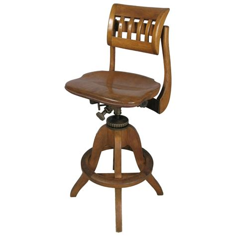 Antique Drafting Stool by Antique Industrial Adjustable Drafting Stool By Sikes At