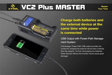 Charger Baterai 26650 2 Slot Nk 926 xtar vc2 plus master battery charger 2 slot for li ion and ni mh with lcd display black