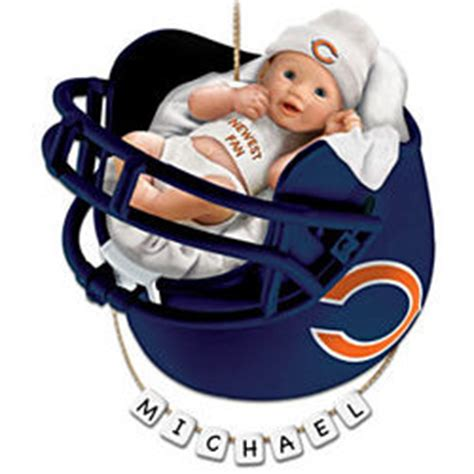 chicago christmas gift ideas personalized chicago bears baby s ornament findgift