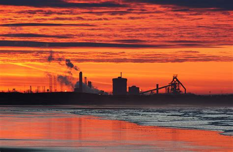 malcolm blenkey photography redcar steelworks sunset
