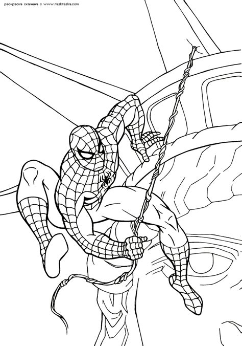 the amazing spider man coloring pages to print