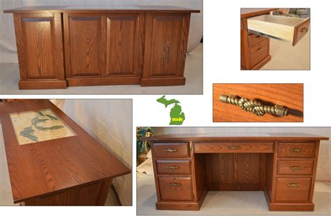 Home Office Furniture Michigan Michigan Great Lakes Executive Desk Jasen S Furniture Since 1951