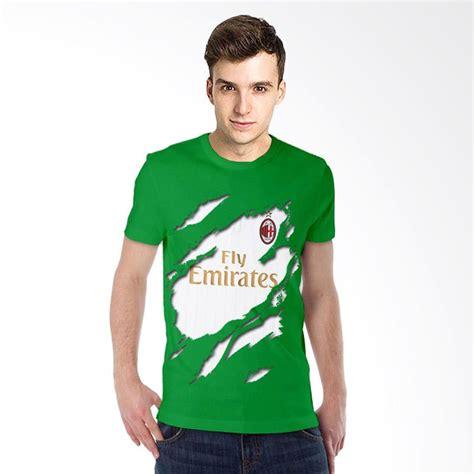 Kaos 3d Minion Hijau Tua jual t shirt kaos 3d ac milan jersey away hijau