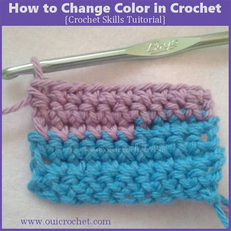 crochet how to change colors how to change color in crochet crochet tutorial