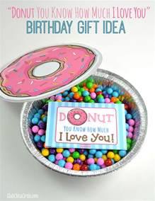donut you know how much i love you birthday gift idea club chica circle where crafty is