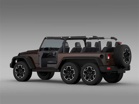 jeep models 2016 jeep wrangler rubicon 6x6 2016 3d model in 3d studio 3ds
