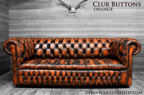 divano arancione divani chesterfield vintage pelle arancione nuovi
