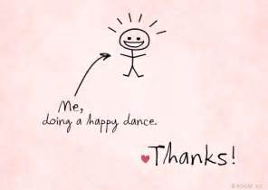quot happy dance reply card quot thank you postcard blue