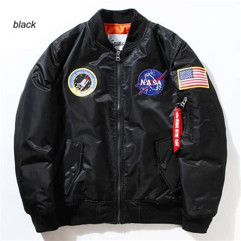 Promo Jaket Pilot Hodie flight pilot jacket coat bomber ma1 bomber jackets nasa air embroidery baseball
