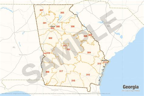zip code maps georgia search the maptechnica printable map catalog maptechnica