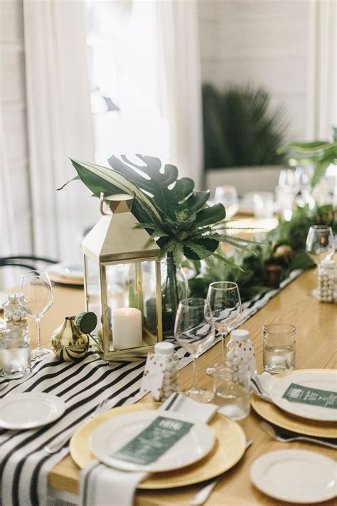 A Modern Elegant Tropical Baby Shower The Sweetest Occasion » Home Design 2017