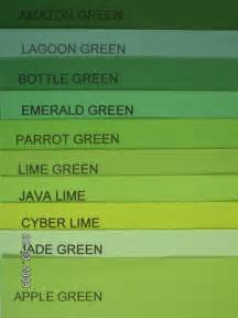 shades of green color chart shades of green rosseau pinterest colors emerald
