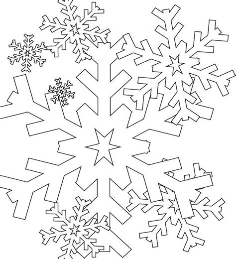 Big Snowflake Coloring Pages