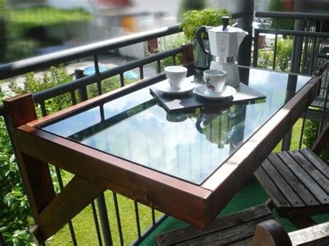 folding balcony images decoration ideas folding table for the balcony wood and glass plate home