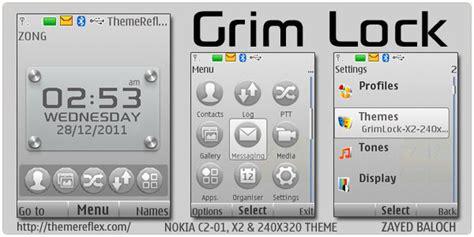 Nokia C2 Lock Themes | grim lock theme for nokia x2 c2 01 240 215 320 themereflex