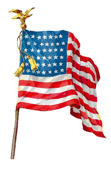 patriotic clip antique images vintage american flag image clip