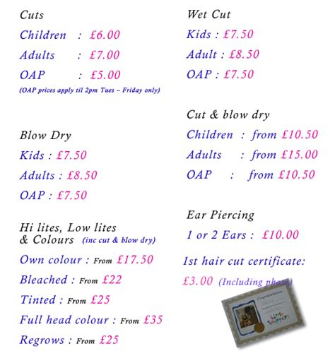 regis hair price list regis hair cut prices regis hair salon prices regis hair