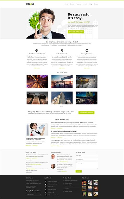 layout homepage wordpress extensio elegant and minimal business wordpress by atix
