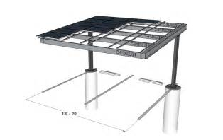 Awning Pattern Solar Single Column Single Carport Structures Corp