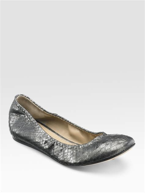 vera wang flats shoes vera wang lavender snake embossed leather ballet flats in