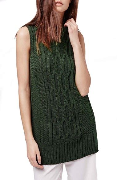 sleeveless cable knit sweater topshop cable knit sleeveless sweater nordstrom