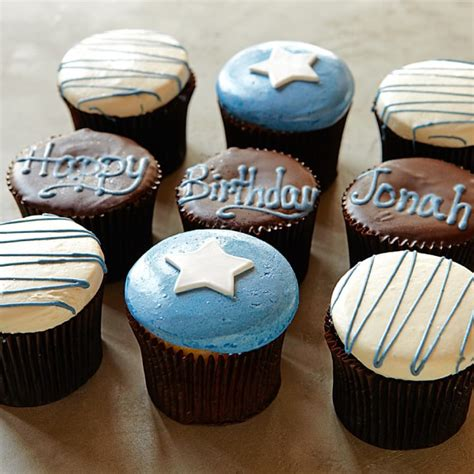 personalized birthday cupcakes   set