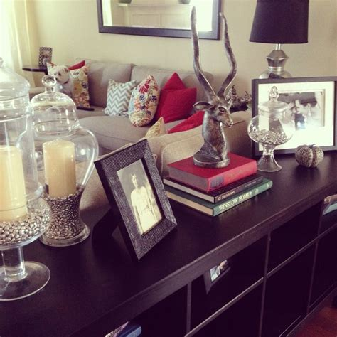 sofa table decorating ideas jars couch pillows and traditional sofa on pinterest