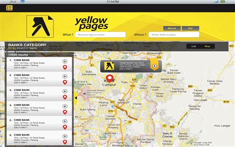 Yellow Page Lookup Yellow Pages Malaysia Android Apps On Play