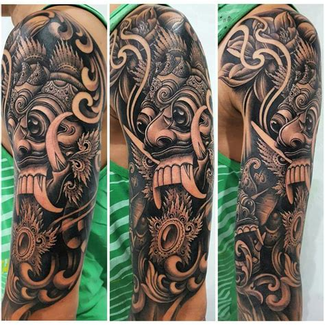 balinese tattoo designs rangda mask tattoos masking