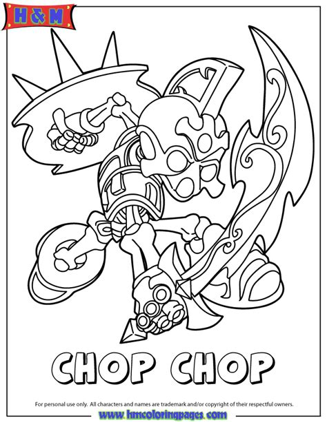skylanders giants undead series2 chop chop coloring page