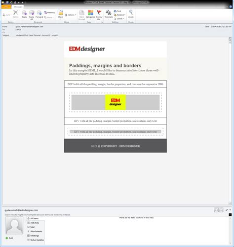 tutorial html email paddings margins and borders in modern html emails