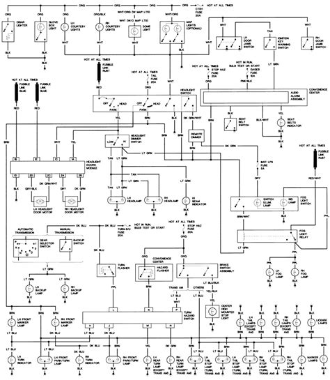 Pontiac Firebird 1989 Fusebox Diagram Third Generation F