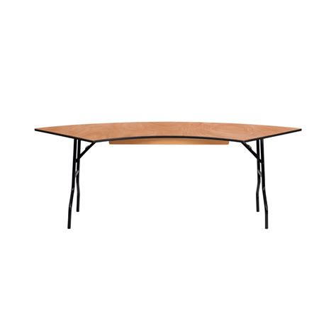 5 Foot Folding Table Flash Furniture 7 25 X 2 5 Serpentine Wood Folding Banquet Table Ebay